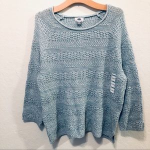 Old Navy Knit Blue Crew Neck Sweater Size 2X